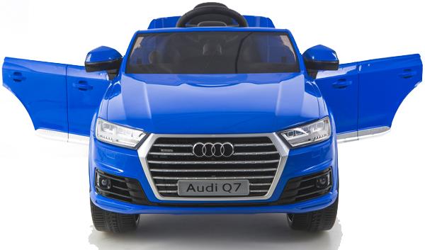 Batteriebetriebene Fahrzeuge Audi Q7 quattro Kinderauto Kinderfahrzeug Kinder Elektroauto 2x Motoren 12V blau