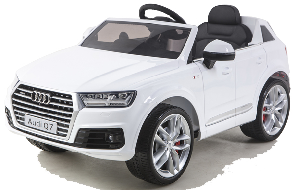 audi q7 quattro v hicule auto enfants voiture lectrique 2x moteurs 12v blanc ebay. Black Bedroom Furniture Sets. Home Design Ideas