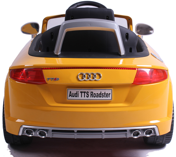 audi tt s roadster cabriolet kinderauto kinderfahrzeug kinder elektroauto gelb ebay. Black Bedroom Furniture Sets. Home Design Ideas