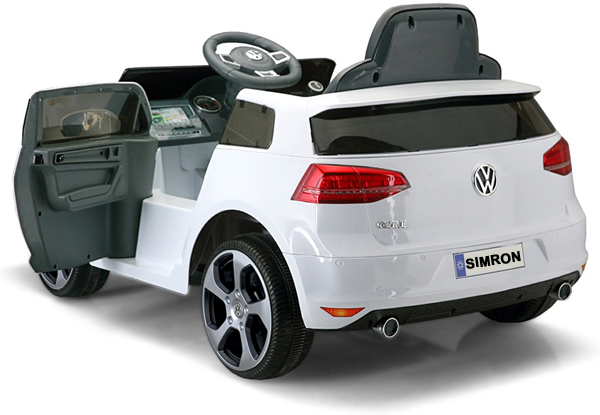 vw golf gti kinderauto kinderfahrzeug kinder elektroauto 2x motoren 12v weiss ebay. Black Bedroom Furniture Sets. Home Design Ideas